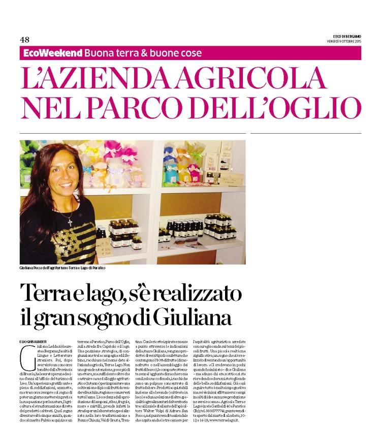 Eco di Bergamo 9 10 2015